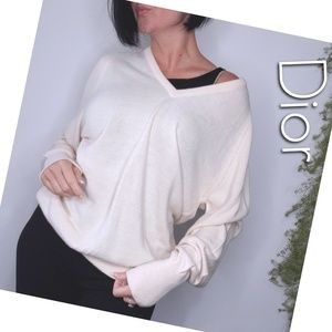 Christian Dior v-neck oversize sweater